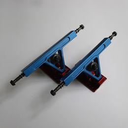Wholesale Atm Parts - Pro Quality 2 pcs set ATM 365 Aluminium alloy blue bridge red bottom skateboarding truck with 97A Bushings