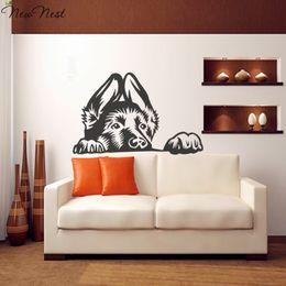 Wholesale Classic Car Home Decor - Diamond embroidery New Hot German Shepherd Dog Wall Decal Vinyl Sticker Home Decor - Good for Walls Cars Mirror Dog Mural DIY