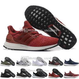 Wholesale Women Cheap Fur Real - 2017 Cheap New Ultra boost 3.0 Real Boost Top Version Running Shoes Men Women Ultra Boost 3 III Core Athletic Shoes EUR 36-47 US 5-12.5