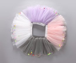 Wholesale Dance Blouses - Summer Colorful Ball Net Yarn skirt for Kids Children Short Party Dance Skirt Baby Girls TUTU Skirts