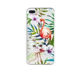 милый дизайн мягкие красочные фламинго чехол для iPhone 6 6 S 5 5S SE 7 7 плюс прозрачный ТПУ сотовый телефон случаях очистить кожу от