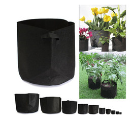 Wholesale Wholesale Coat Fabric - Non Woven Grow Bag Plants Fabric Pots Plant Pouch Root Container Aeration Flower Pot Garden Bag Planters Pouch Root Container KKA1723