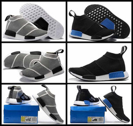 Wholesale Glitter Socks - 2017 Hot Sale NMD Runner PK City Sock Men Women Classic Running Shoes Fashion Primeknit nmd Grey Black Sports Sneakers Boots Trainers 36-44
