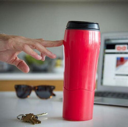 Wholesale New Innovative - 2017 Mug Tumbler New Mighty Magic Sucker with Innovative Push Not Pour Easily Take Water Sport Cup Support Drop Shipping