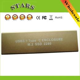 2019 convertisseur usb b Vente en gros - Nouveau USB3.1 USB 3.1 Type-C USB-C à NGFF M.2 B clé SSD 2280 Adaptateur Carte de convertisseur Boîtier externe Boîtier de protection, Dropshipping convertisseur usb b pas cher
