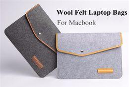 Wholesale Notebook Cover Skin - New Arrived Slim Woolen Felt Laptop Notebook Sleeve Bag Case Skin Cover For MacBook Air Pro Retina 11 12 13 15Inch Bag Case