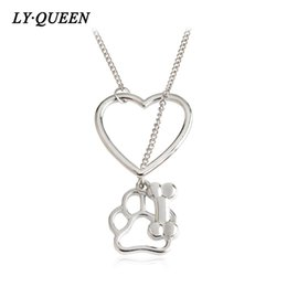 Wholesale Leather Necklace For Dogs - Fashion Hollow Heart Pet Dog Claw Commemorative Necklace Gift For Your Lover Mixed Wholesale On Behalf Of The DeliveryVelvet Rope Turquoise