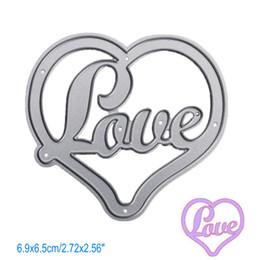 Wholesale Heart Die Cut - Love Heart DIY Metal Cutting Dies Stencil Scrapbook Card Album Paper Embossing Crafts