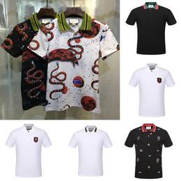 Wholesale Mens Design Shirts - 2017 new fashion shirts men fashion famous brand design mens polo shirts top quality 100% cotton wholesale