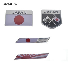 Wholesale Lexus Car Emblem - Car Styling Japanese Flag Emblem Badge Car Sticker Decals Accessories For Toyoto Nissan Mazda Lexus Mitsubishi Car-Styling