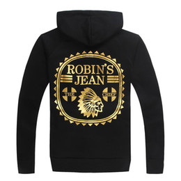 Wholesale Kind Sleeves - 5 kinds of style! 2017 new spring Autumn Robin jeans long-sleeved hooded sweater jacket sports men and women couple models size M-3XL