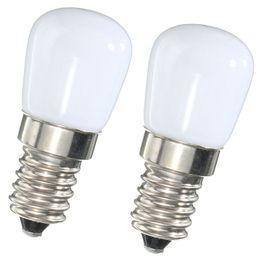 Wholesale Fridge Bulbs - Wholesale- Mini LED Light Bulb E14 1.5W SES Fridge Freezer LED SMD Lamp Spotlight Bulbs Chandeliers Lighting 80-90 LM AC220V