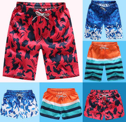 Wholesale Male Swim - wholesale Mens Swimwear Male Swimming Beach Shorts quick dry Lovers Swimwear Mans half Swimsuit 24 colors 3 pockets Free DHL D526