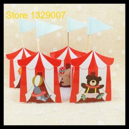 Wholesale Thanks For Birthday Gifts - Wholesale- 30pcs Animal Candy Boxes for Carnie Circus Themed Children's Day Birthday Party Kids Thanks Christmas Gift Boxes