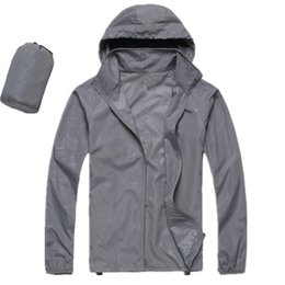 Wholesale Red Skin Jacket - Men Women Spring Autumn Thin Jacket Coat Outdoor Waterproof Quick Dry Camping Jackets Windproof UV Protection Outdoor Sport Skin Jacket