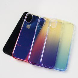 Blue Ray Armour Case pour iPhone X 8 plus galaxy S8 PLUS Capinhas Gradient Color Ultra Thin PC Hard Full Cover B ? partir de fabricateur