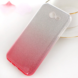 Wholesale Galaxy Change - For Samsung Galaxy J3 2017 J3 prime J3 Emerge J327P Metropcs color change rubber soft glitter stickers TPU + PC phone protection shell
