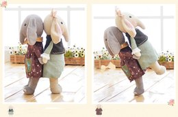 Wholesale Cute Birthday Gifts For Girls - 16 inch Kawaii Plush Sweet Cute Cartoon Lovely Stuffed Animal Baby Kids Toys for Girls Birthday Christmas Gift 40cm Elephant Metoo Doll