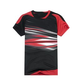 Nuevo tenis de bádminton / ropa de verano para hombres / mujeres ropa de manga corta de bádminton del equipo del partido transpirable de secado rápido envío gratis desde fabricantes