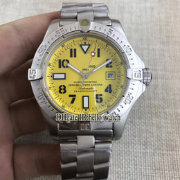 Wholesale Green Bracelet Watch Cheap - Super Limited Brand Avenger Seawolf II Seawolf Yellow Dial A1733110 I519 Automatic Mens Watch Stainless Steel Bracelet New Cheap Watches