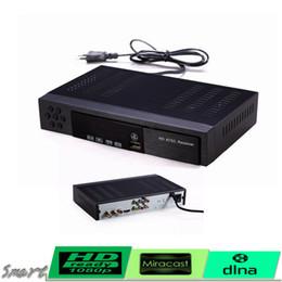 Wholesale Tv Signal Receivers - HD ATSC TV RECEIVER Digital Terrestrial Antenna Signal 1080P TV Set Top BOX HDMI USB PVR Record For USA Canada Mexico