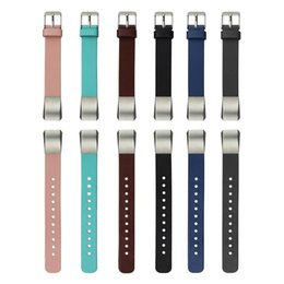 Wholesale Wholesale Leather Wrist Straps - For Fitbit Alta Watchbands Luxury Double Tour Genuine Leather Watch wristband Strap Bracelet For Fitbit Alta Wrist Band Strap 2016