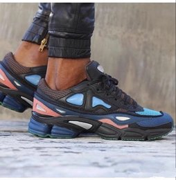 Wholesale Outdoor Sports Flooring - New Arrival 2017 High Quality Raf Simons X Sneakers Consortium Ozweego 2 Outdoor Running Shoes Men Woemn Red Breathable Athletic Sport Shoes