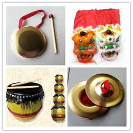 Wholesale Old Art Crafts - Foshan traditional handmade arts and crafts lion head drum cymbal gong children Special gift birthday present Halloween dance lion props 005