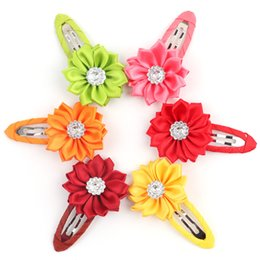 Wholesale Hair Accessory Sunflower Clip - Rhinestone Sunflower hair clips baby girl hairwear baby & kids hairpins children hair accessories Wholesale Free shipping F089