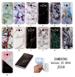 Wholesale A3 Fashion - Marble Stone Fashion skin case Soft TPU IMD Gel back cover For Samsung Galaxy S8 EDGE S7 S6 J3 J310 2016 J710 J7 A3 A5 2017 1PCS 5PCS