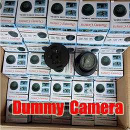 Wholesale Dome Infrared Cctv Camera - Dome Security Dummy Camera Fake Camera Simulated Infrared IR LED Fake Camera with Blinking Light CCTV Surveillance free DHL