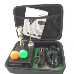 Kit digital enail on-line-prego digital elétrico portátil do prego de E PID TC jogo completo prego eletrônico do dabbing ENail Dnail Titanium sem volta 220V 110v 100w digital.