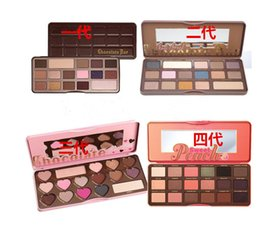 Wholesale Direct Pas - Factory Direct DHL Free Shipping lowest price  High quality HOT new makeup MIX chocolate bar  semi-sweet   bonbons  Sweet Peach eyeshadow pa