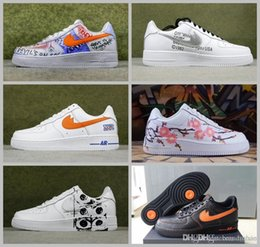 Wholesale Run Nyc - 2017 CDG Comme Off White Custom NYC Sup Running Shoes Women Men White Black Pink Vlone Pauly Ones Casual Boots 36-44