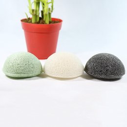 Wholesale natural body cleanse - Konjac Sponge Puff Natural Healthy Facial Sponges Pure Natural Konjac Vegetable Fiber Making Cleansing Tools For Face And Body with Bag