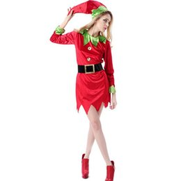 Wholesale Green Elf Costume - Halloween cosplay costume party dress Green elves Peter pan Role-playing apparel hunter costume Kids adult performance clothing