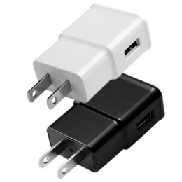 Wholesale 1a 2a - Free 1000pcs 2A 1A 1000mah 2000mah White Black Color US & EU Ac home wall charger power adaptor for iphone 4 5 6 7 for samsung gps mp3 mp4
