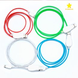 Wholesale Visible Usb Micro Data Cable - 1M 3FT Visible Luminous LED Light Up Flowing Micro USB Lighting Charging Cable Running Flash Data Sync Transmit Line for i5 i6 Android