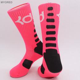 Wholesale Long Ankle Dresses - USA new knee high elastic crew socks elite basketball football soccer sport long tube crew sock terry towel kd socks for men women dressing