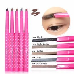 Wholesale Powder Eyebrow Pencil - 1PC Waterproof Dark Brown Eyebrow Pencil Pen Eye Brow Liner Powder Shaper Makeup Tool