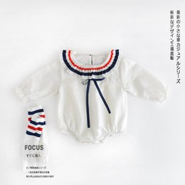 Wholesale Cotton Comfort Baby - 2017 Baby Rompers Kids Jumpsuits series of pure Cotton comfort stripes hit the color of the baby baby clothes