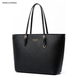 Wholesale China Luxury Bags - Wholesale- China Famous Brand Casual Tote Handbag Shoulder Bag Luxury Handbags Women Bags Designer PU Leather Top-handle Bags borse #o188