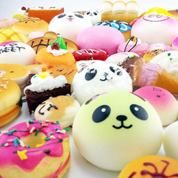 Wholesale Kawaii Mix - Wholesale Kawaii Squishy Donut Soft Squishies Cute Phone Straps Bag Charms Mixed Slow Rising Squishies Jumbo Buns Phone Charms Free