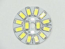 Wholesale 32mm Led - Wholesale- 14 PCS 0.5W SMD 5730 7W LED PCBA 120LM W ultra brightness Epistar Chips for LED Bulb Light Source diameter 32mm Freeshipping