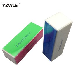 Wholesale Shine Buffer - Wholesale- YZWLE 2PCS 4-WAY Nail Art Polish Gel Buffing Sanding Files Buffer Block Remove Smooth Shine Buffer Tools