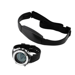 Wholesale Outdoor Wireless Transmitter - Wholesale- 1 Set Chest transmitter strap+Watch Outdoor Cycling Sport Fitness Wireless Heart Rate Monitor reloj inteligente New Hot Selling