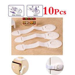 Wholesale Cabinet Safety Lock For Baby - New style 10 Pcs Baby Safety Cabinet Door Drawers Refrigerator Child Safety Plastic Locks For Toddler Child Cabinet Door Closer