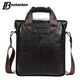 Wholesale Bostanten Briefcase - Wholesale- Bostanten 2017 Hot Sale Genuine Leather Business Briefcase Portable Laptop Handbag Casual Purse Sacoche Homme Marque Crossbody