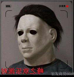 Wholesale Michael Movies - Top Grade Party Cosplay Movie Michael Myers Style Halloween Horror Mask Latex Fancy Party Scary Movie Full Head Mask free shipping