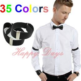 Wholesale Ladies Garter Belts - Wholesale- Mens Shirt Sleeve Holders Arm Bands Bridegroom Garter Elasticated Metal Armband Ladies 2.5cm wide, 250 Pairs